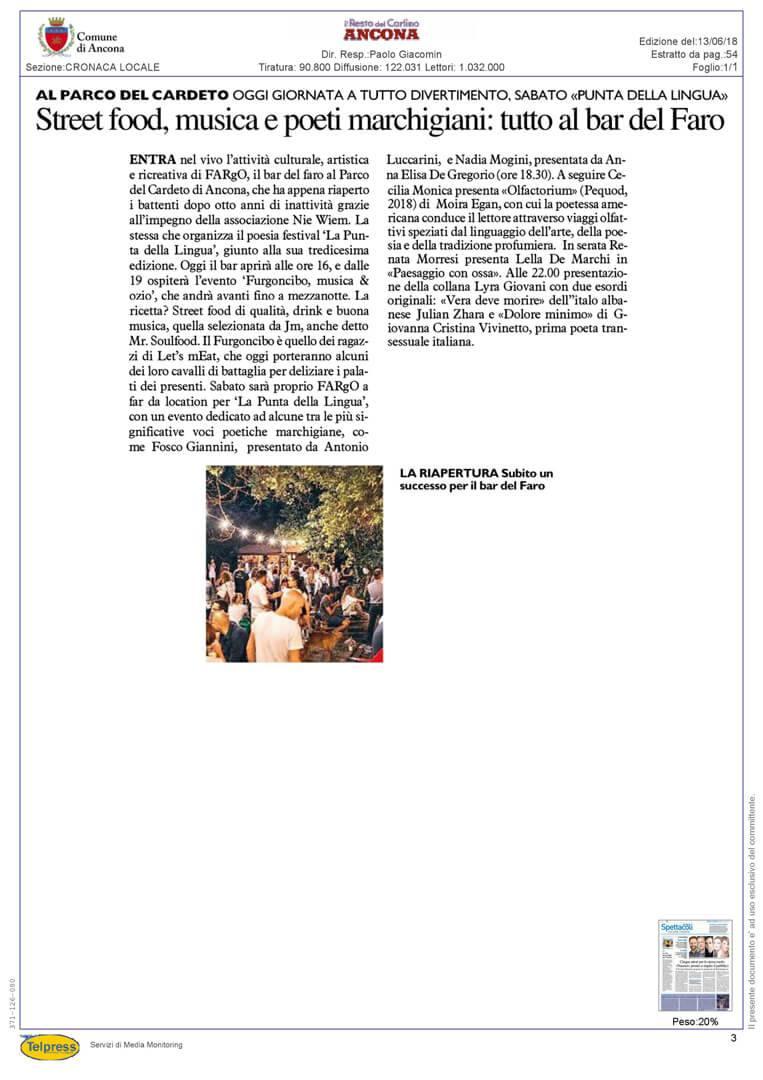 13-06-18 Il Resto del Carlino Ancona