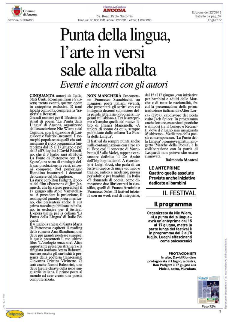 22-05-18 Il Resto del Carlino